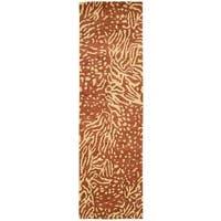 "Nourison Tahoe Modern Rust Beige Area Rug (2'3 x 8') - 2'3""x 8'"