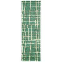 "Nourison Tahoe Modern Turquoise Green Area Rug (2'3 x 8') - 2'3""x 8'"
