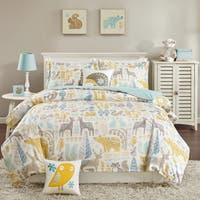 Taylor & Olive Bricky Woodland Cotton Duvet Cover Set