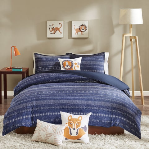 INK+IVY Kids Oliver Navy Cotton Comforter Set