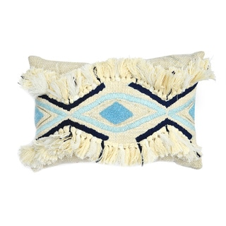Jessamine Cream and Blue Pillow