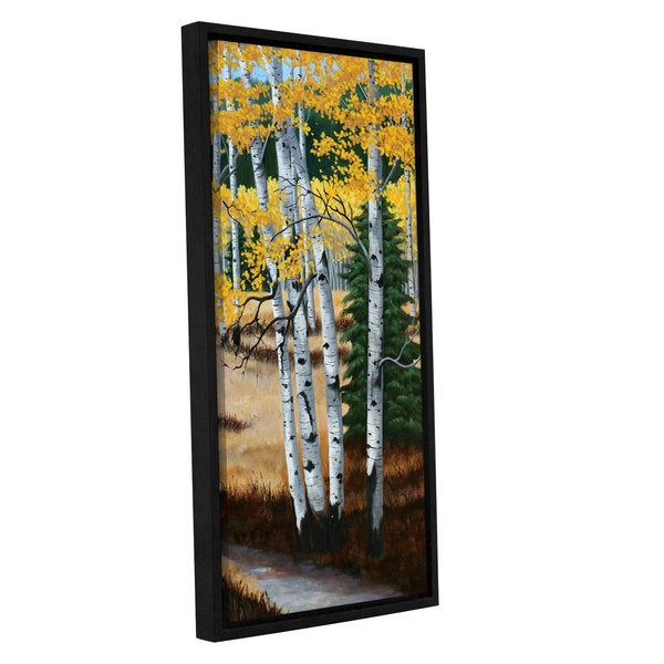 Julie Peterson's 'Trail Into The Aspens I' Gallery Wrapped Floater-framed Canvas
