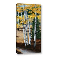 Julie Peterson's 'Trail Into The Aspens I' Gallery Wrapped Canvas