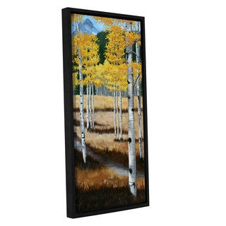 Julie Peterson's 'Trail Into The Aspens II' Gallery Wrapped Floater-framed Canvas