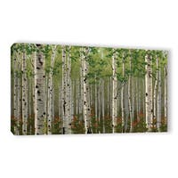 Julie Peterson's 'Summer Birch Forest' Gallery Wrapped Canvas - multi