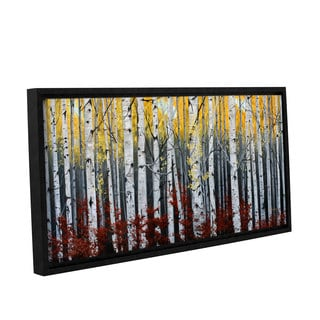 Julie Peterson's 'Birch Forest' Gallery Wrapped Floater-framed Canvas