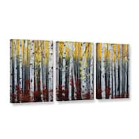 Julie Peterson's 'Birch Forest' 3 Piece Gallery Wrapped Canvas Set