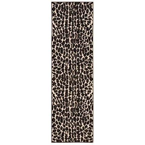 """Nourison Studio Ivory/Black Area Rug (2'2 x 7'3) - 2'2"""" x 7'3"""" Runner"""