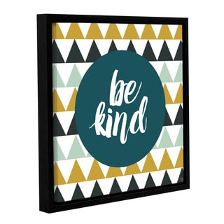 Aubree Perrenoud's 'Be Kind' Gallery Wrapped Floater-framed Canvas