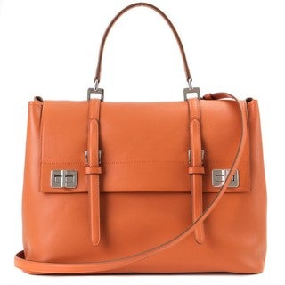 Prada 'Papaya' Saffiano Leather Satchel