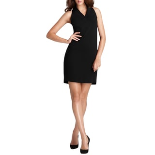 Elie Tahari Johanna Black Viscose Dress (Size 10)