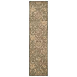 Nourison Silken Allure Moss Area Rug (2'5 x 10')