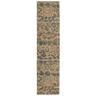 Nourison Silken Allure Teal Area Rug (2'5 x 10')