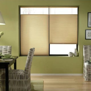 First Rate Blinds Leaf Gold 72 to Inches Wide Cordless Top Down Bottom Up Cellular Shades