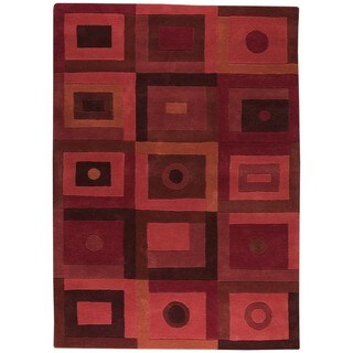 M.A.Trading Hand-Tufted Indo Berlin Red Rug (4'6 x 6'6)