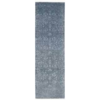 Nourison Silk Shadows Blue Stone Area Rug (2'3 x 8')