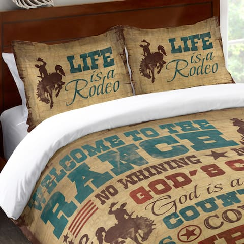 Laural Home Rodeo Words Standard Pillow Sham