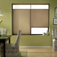 First Rate Blinds Antique Linen 69 to 69.5-inches Wide Cordless Top Down Bottom Up Cellular Shades