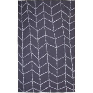 M.A.Trading Hand-Tufted Chinese Shadow Dark Grey Rug (2 x 3')