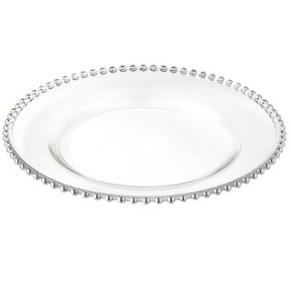 Elegance 13-inch Silver Beaded Chargers (Set of 4)