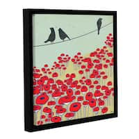 Shanni Welsh's 'Bird On A Wire I' Gallery Wrapped Floater-framed Canvas