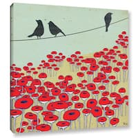 Shanni Welsh's 'Bird On A Wire I' Gallery Wrapped Canvas