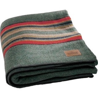 Pendleton Green Heather Yakima Camp Wool Blanket. Opens flyout.