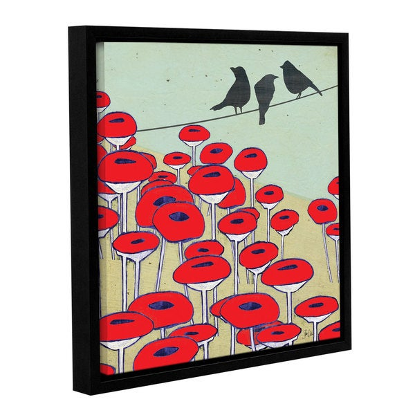 Shanni Welsh's 'Bird On A Wire II' Gallery Wrapped Floater-framed Canvas