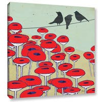 Shanni Welsh's 'Bird On A Wire II' Gallery Wrapped Canvas - Multi