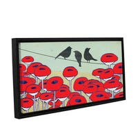 Shanni Welsh's 'Bird On A Wire III' Gallery Wrapped Floater-framed Canvas