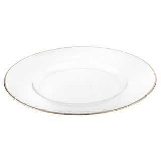 Elegance 13-inch Silver Rim Charger Dining Plates (Set of 4)