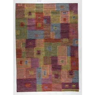 M.A.Trading Hand-woven Indo Khema8 Multi Rug (4'6 x 6'6)
