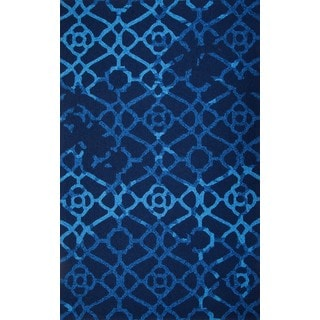 M.A.Trading Hand-Tufted Chinese Heritage Blue Rug (2 x 3')