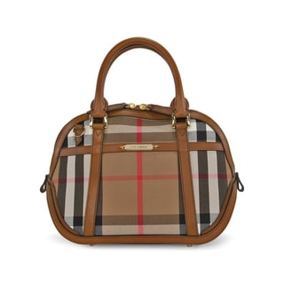 Burberry Sartorial House Check Bowling Bag
