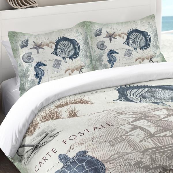 Laural Home Vintage Seaside Maritime Standard Pillow Sham