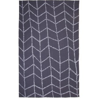 M.A.Trading Hand-Tufted Chinese Shadow Dark Grey Rug (5 x 8')