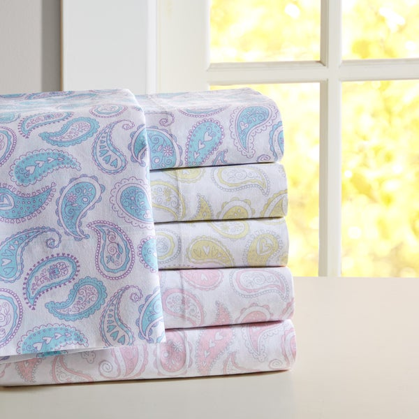 Mi Zone Paisley Print Cotton Sheet Set--3 Color Options