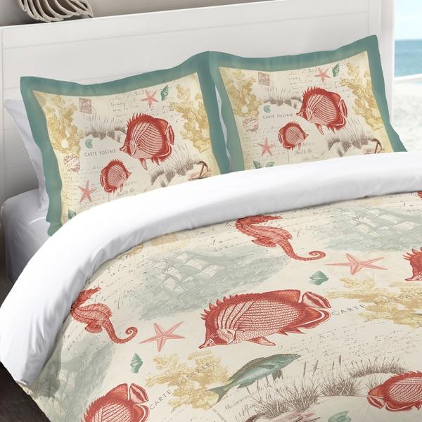Laural Home Coral Seaside Maritime Standard Pillow Sham