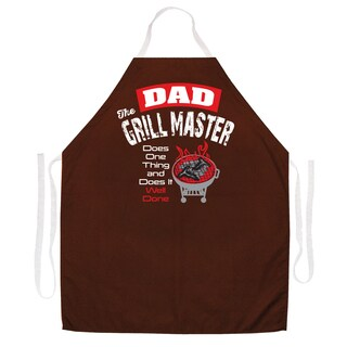 Dad the Grill Master' BBQ Grill Apron-Brown
