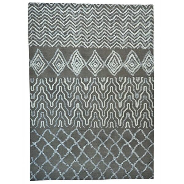 Shop Moroccan Berber High Low Pile Pure Wool Handmade Rug