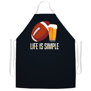 Life is Simple' Football Kitchen Apron-Black