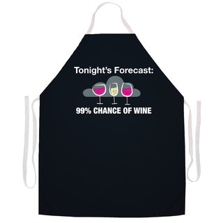 Tonight's Forecast 9% Chance Of Wine' Kitchen Apron-Black
