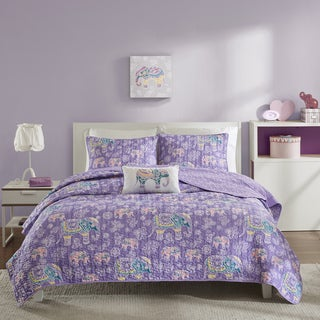 Mi Zone Abby Purple Coverlet Set