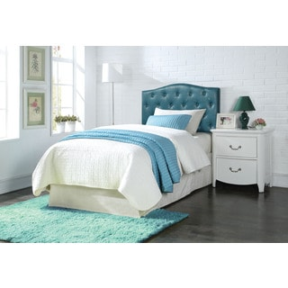 Blue Twin Tufted Headboard