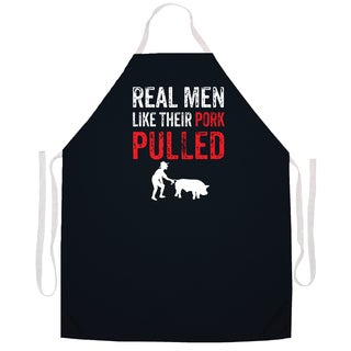 Real Men Like Their Pork Pulled' Kitchen Apron-Black