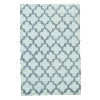 Moroccan Berber Thick and Plush Pure Wool Hand-knotted Rug (5' x 7'10)