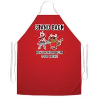 Stand Back Don't Make Me Burn Your Weenie' BBQ Grill Apron-Red