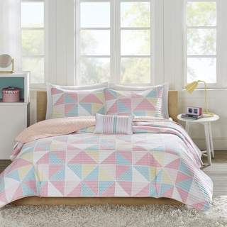 Mi Zone Jackie Pink Coverlet Set