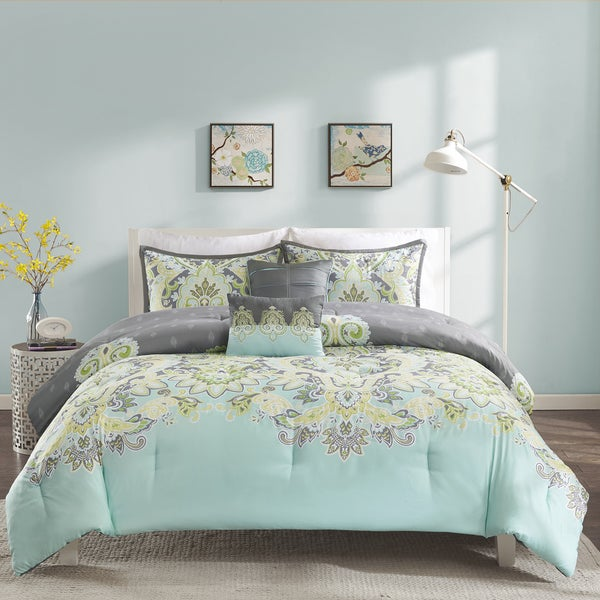 Shop Intelligent Design Jade 5 Piece Comforter Set Free Shipping