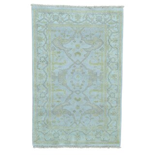 Oushak 100 Percent Wool Hand-knotted Oriental Rug (3'9 x 5'10)